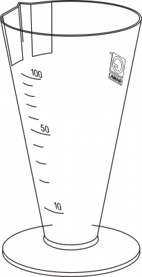 Urinal conic measuring cup 100 ml - yellow   GAMA GROUP a s